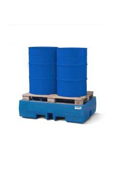 Auffangwanne PolySafe ECO - Polyethylen (PE) - für 2 Fässer auf Europalette