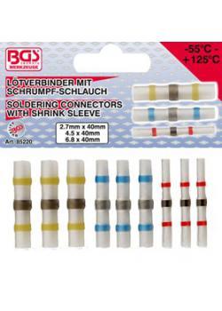 Solder-set - with shrink tubing - length 40 mm - 9 pcs.