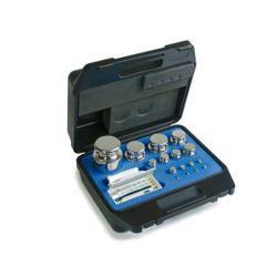 Vægt sæt E 2 - 9 test lodder - 1 mg til 500 mg - aluminium / tysk sølv
