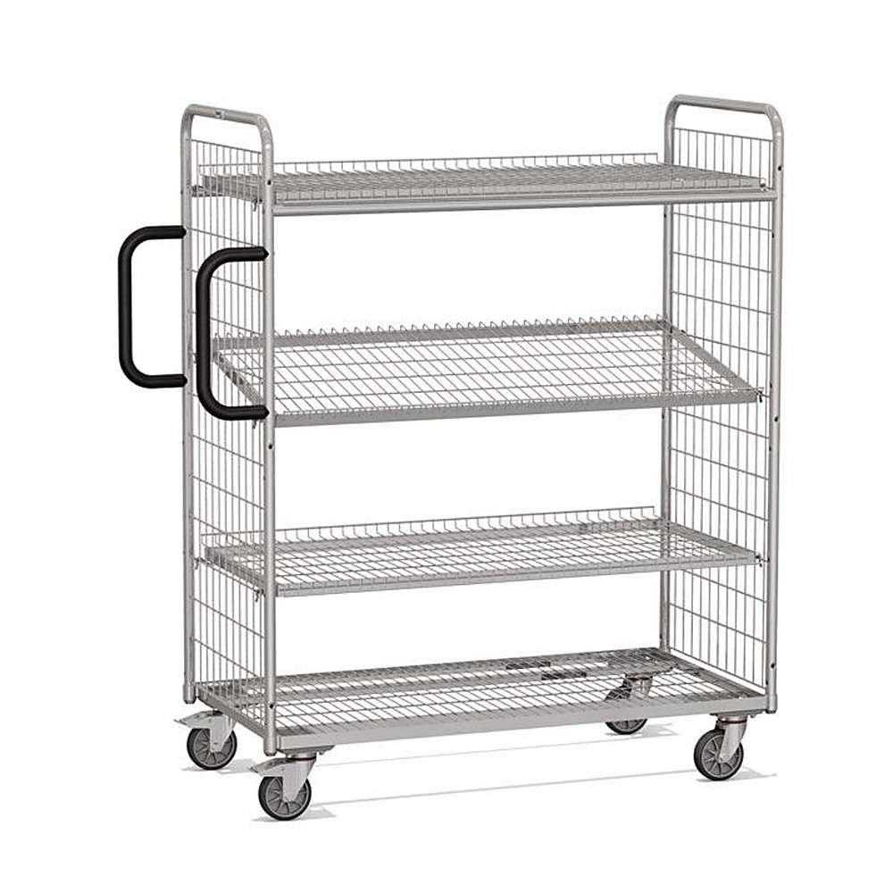 Picker - Stirnwänd and shelves made of wire mesh welding