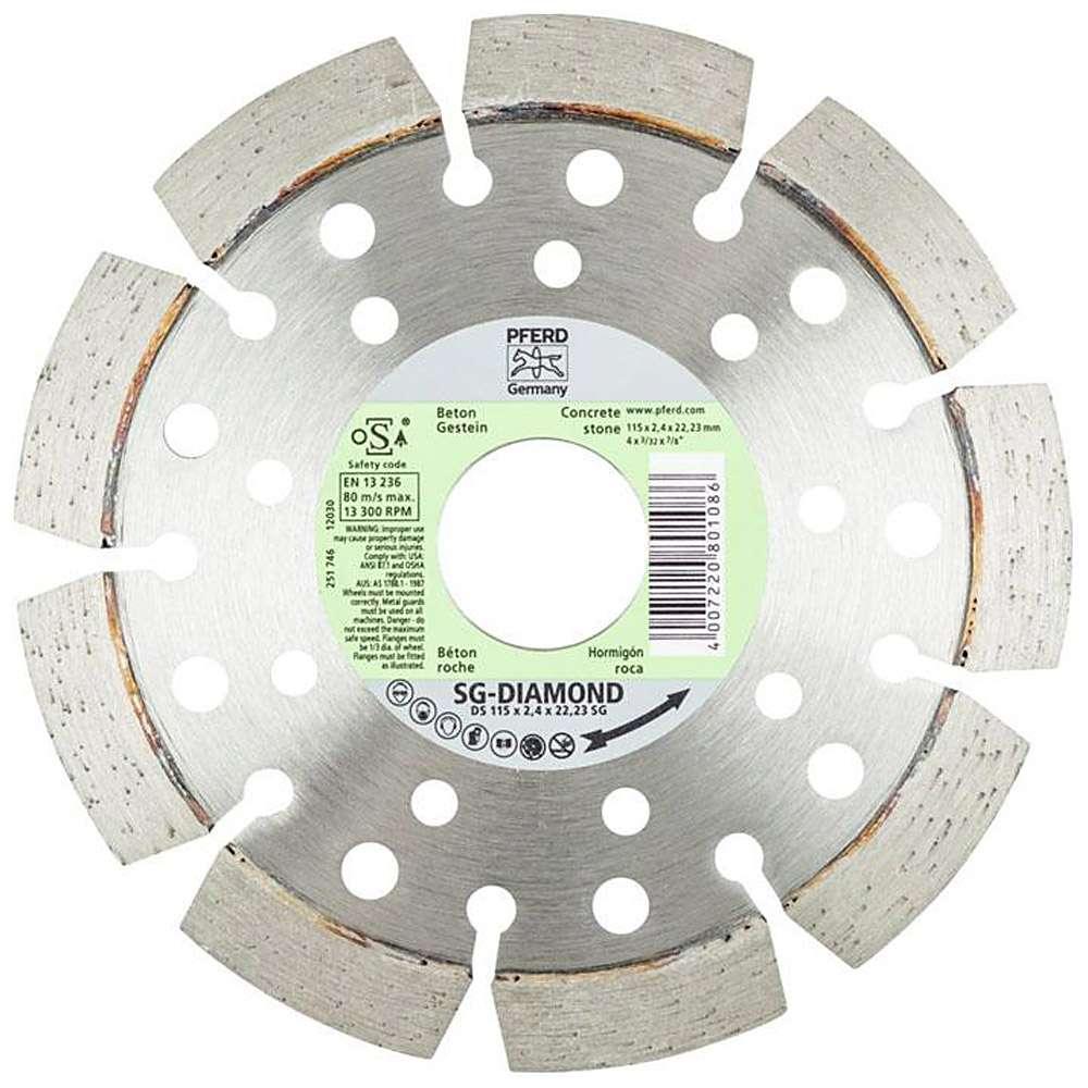 Diamant Skärhjul - PFERD - för betong / rock - Segment höjd 10 mm