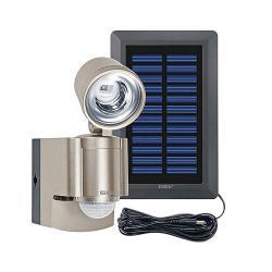 Solar LED Strahler - mit Bewegungsmelder 140° und Alarmfunktion - Batteriebetrieb