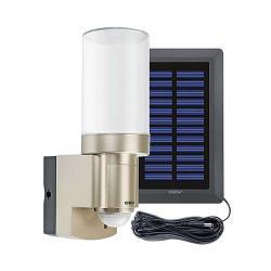 Solar LED Leuchte - mit Bewegungsmelder 140° und Alarmfunktion - Batteriebetrieb