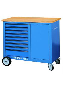 Mobile Workbench - mobile työpöytään - 9 laatikkoa - Yhteensä kantavuus 700 kg