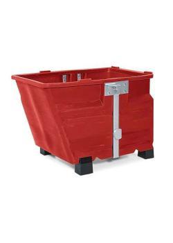 Contenitore per merci sfuse in polietilene (PE) - con piedini - volume 600 litri - diversi colori