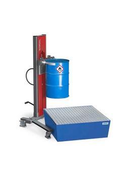 Sollevatore fusti Secu Ex tipo SK - telaio allargato - ATEX - per fusti da 200 e 220 litri