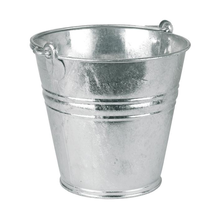 Water bucket - galvanized - 9 to 14 l - with carrying handle