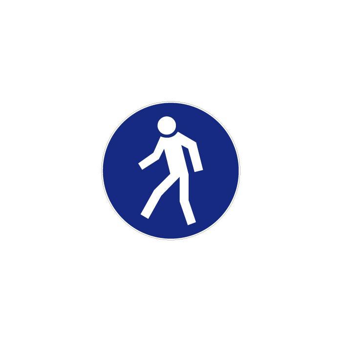 """Gebotszeichen """"Für Fußgänger"""" - Durchmesser 5 bis 40 cm - nach BGV A8 - verschiedene Ausführungen"""