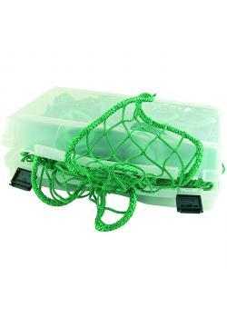 Netz - zur Ladungssicherung - grün - inkl. 4 Klettbänder