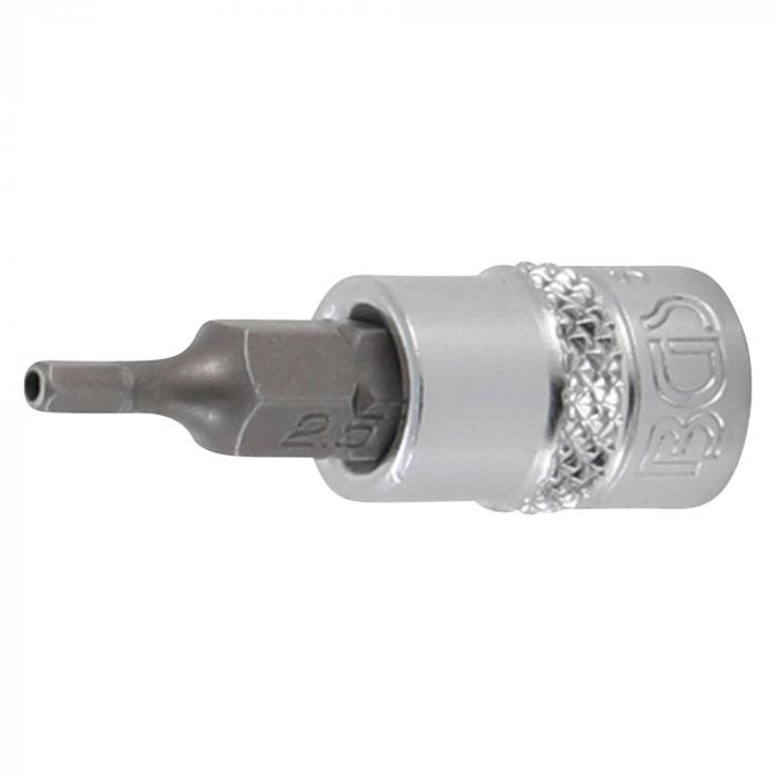 """Bit-Einsatz-Satz - 8-teilig - Antrieb Innenvierkant 6,3 mm (1/4"""") - Innensechskant mit Bohrung 2 bis 7 mm"""