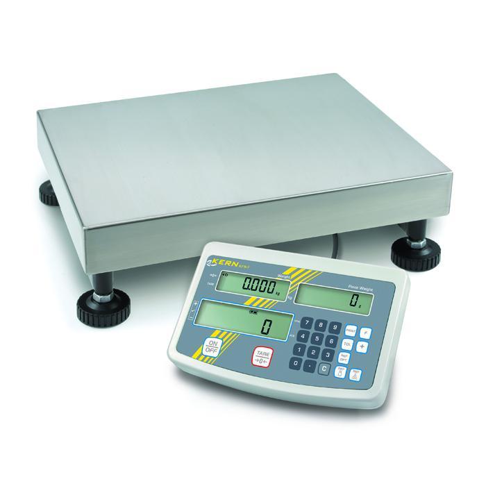 Waage - Wägebereich 3 bis 300 kg - Zählauflösung bis 75.000 Pkt. - Eichzulassung