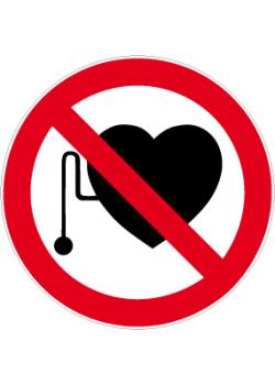 """Förbudsskylt """"pacemaker förbjuden"""" - Ø 5-40 cm"""