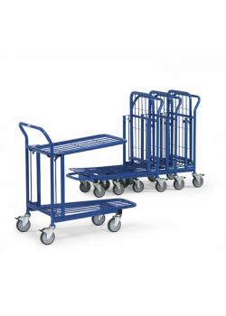 Storage cart - with handlebar and 2 floors - 300 kg