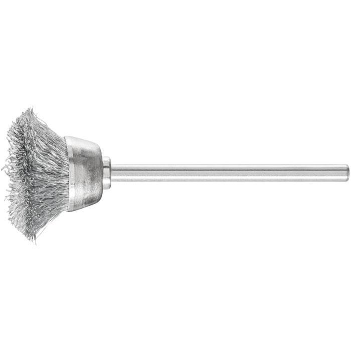 Topfbürste - PFERD - Bürsten-Ø 15 oder 18 mm - mit Stahldrahtbesatz