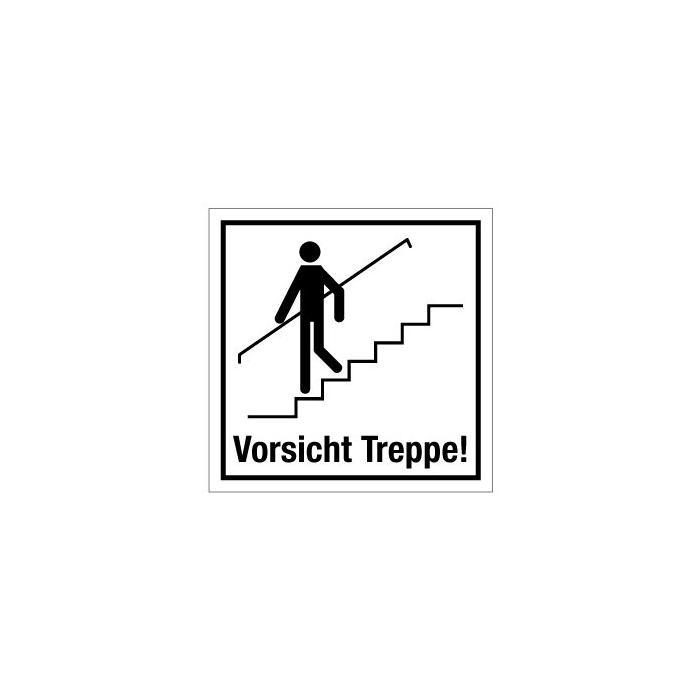 """Türkennzeichnung """"Vorsicht Treppe"""" - 50 mm bis 400 mm"""