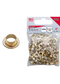 Eyelets - size 5 mm x 5.5 mm - number of 100 pcs.