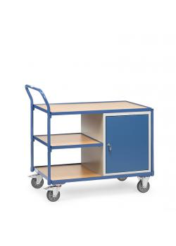 Table trolley - 1 cupboard and 3 loading platforms - 300 kg