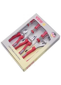 Jeu de pinces à manches MK Plus - longueur 160 mm à 200 mm - 6 pièces - chromées