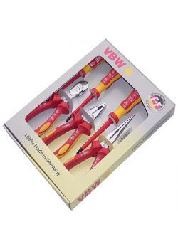 Jeu de pinces  VDE - chromées - branches composites - longueur de 180 à 200 mm -