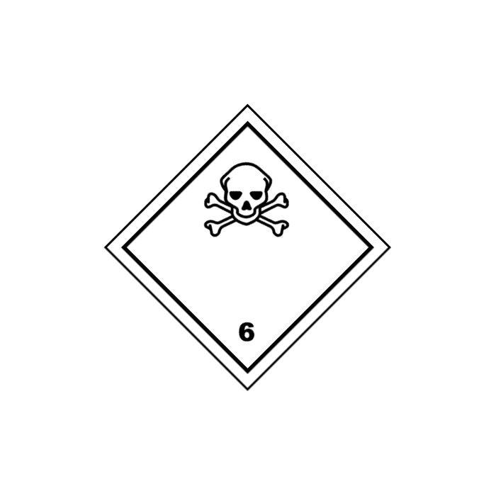 """Gefahrgutzeichen """"Giftige Stoffe - Klasse 6"""" 5-40 cm Seitenlänge"""