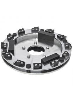 Roll Planfräser - Durchmesser 400 mm - mit 12 außenliegenden Hartmetallmessern - Gewicht 18,5 kg