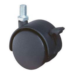 Möbelrolle - Gewindestift - Feststeller - Rad-Ø 40 mm - Bauhöhe 49 mm - Tragkraft 30 kg