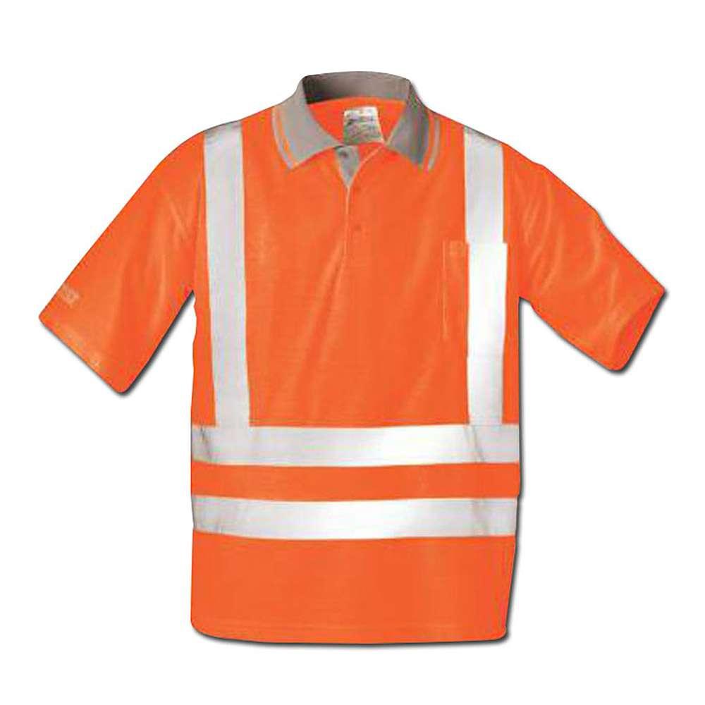 """Sikt Polo """"Uwe"""", apelsin, EN 471 klass 2, Mått: L-XXL"""
