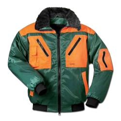 """Pilotjacka """"Rotdorn"""", grön-apelsin, storlekar: S-XXL"""