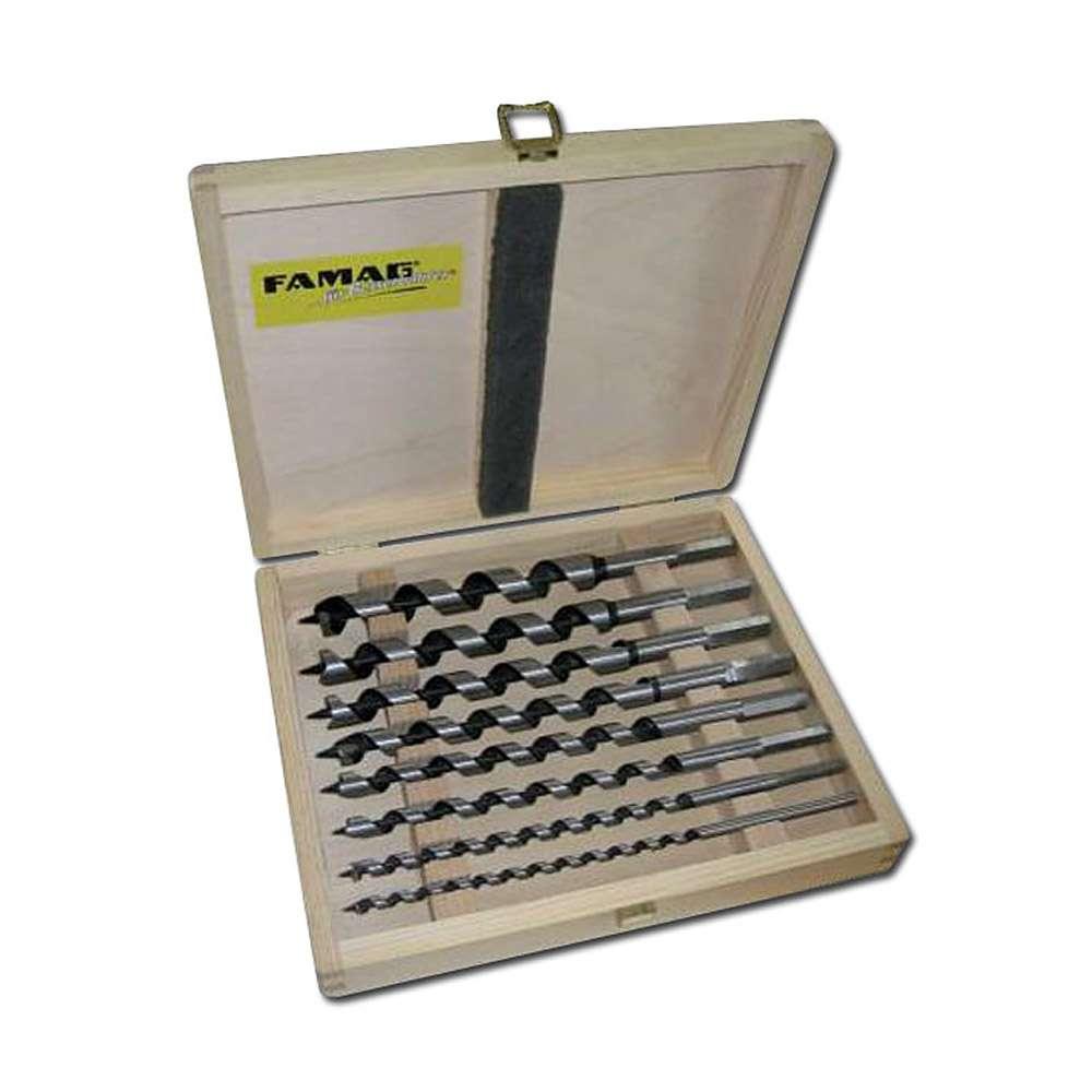 """Auger-set """"Lewis"""", 6- do 8-częściowy, w drewnianym pudełku, FAMAG"""