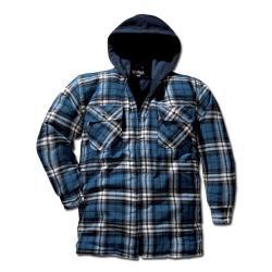 """Varmfodrad skjorta """"Skottland"""", blå-rutig, S-XXL"""