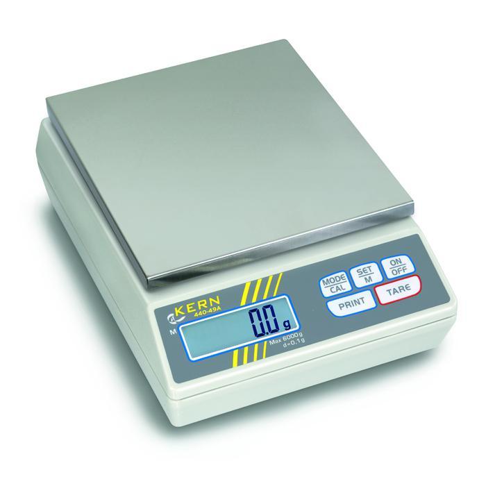 Waage - Wägebereich 60 g bis 6 kg - Abmessung (B x T x H) 165 x 230 x 80 mm