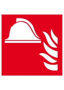 """Brandskylt """"utrustning brandbekämpning"""" - sidolängd 5-40 cm"""