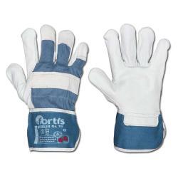 "Handschuh ""STEELER"", Rindvollleder, Kat. 2 Größen: 8-11, FORTIS"