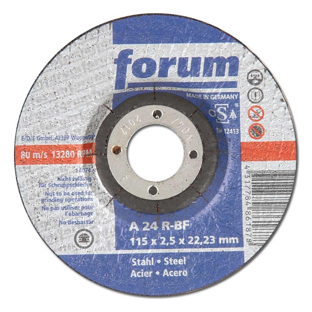 Kapskiva för metallbearbetning, A 24 E-BF, PU = 25 st, FORUM