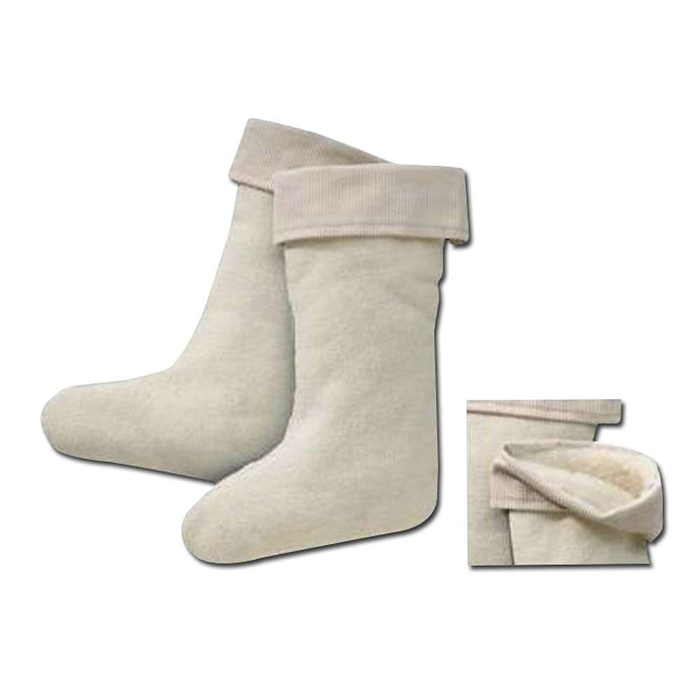 Boot insats med Cuff från lammull, beige, Storlekar: 39-47