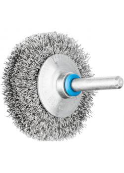 Kegelbürste - PFERD - ungezopft, aus INOX - mit Schaft - für Edelstahl - VE 10 Stück - Preis per VE
