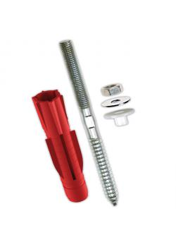 Wash basin fastening - for almost all building materials - with Tri-purpose plugs - TOX oasis