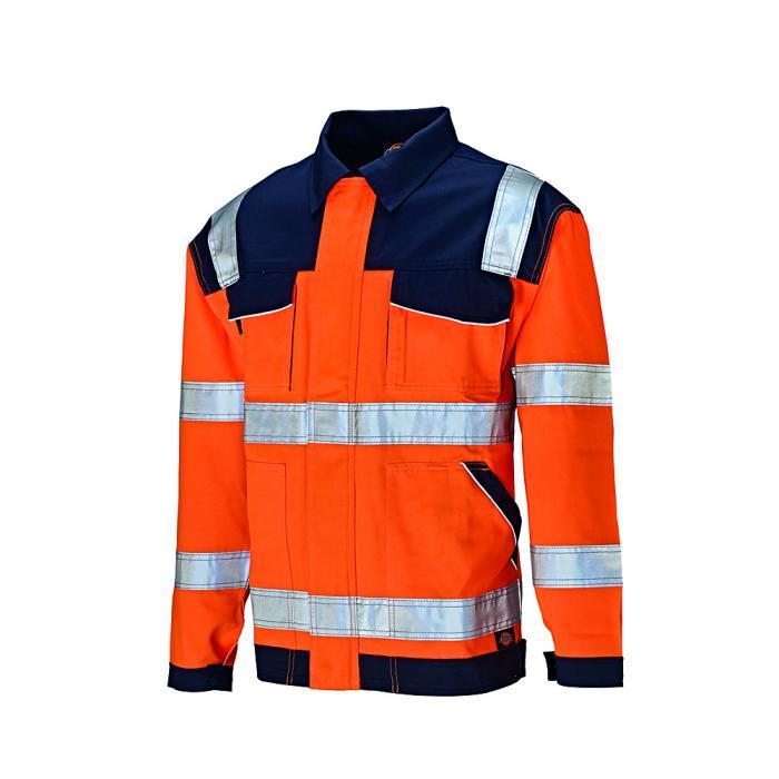 Giacca protettiva di avvertimento Industria - Dickies - altamente visibile - taglia dalla S alla 4XL - arancione / blu navy