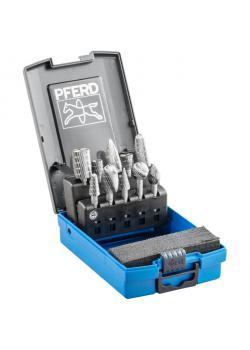 Frässtifte-Set - PFERD - 10 HSS-Frässtifte - Schaft-Ø 6 mm - 8 versch. Formen