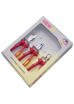 Jeu de pinces  VDE - chromées- branches composites - longueur de 160 à 180 mm -