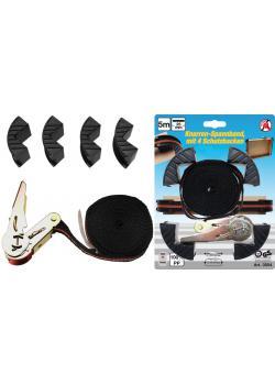Knarren-Spannband - mit 4 Schutzbacken - Länge -5 m - max. 245 daN
