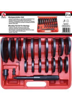 Radlager-Montagescheiben-Satz XXL - Ø 70 bis 150 mm (5 mm Schritte) - 21-tlg.