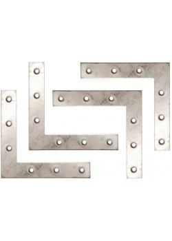 Winkel - L-Form - 100 x 100 x 15 mm - verzinkt - 4-tlg.