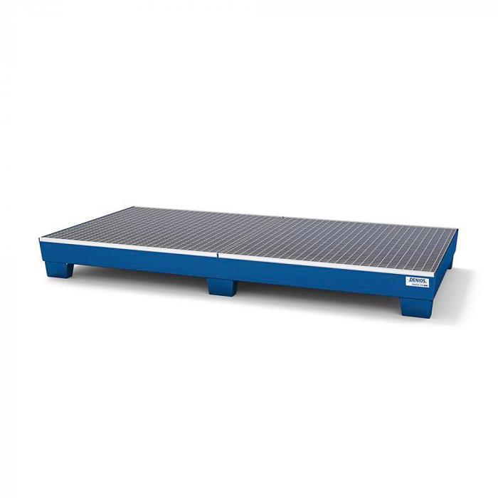 Auffangwanne classic-line - Stahl lackiert oder verzinkt - unterfahrbar - Gitterrost -  für 8 Fässer