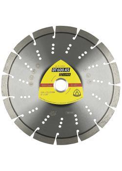 Diamanttrennscheibe DT 600 AS - Durchmesser 115 bis 230 mm - Bohrung 22,23 mm - lasergeschweißt