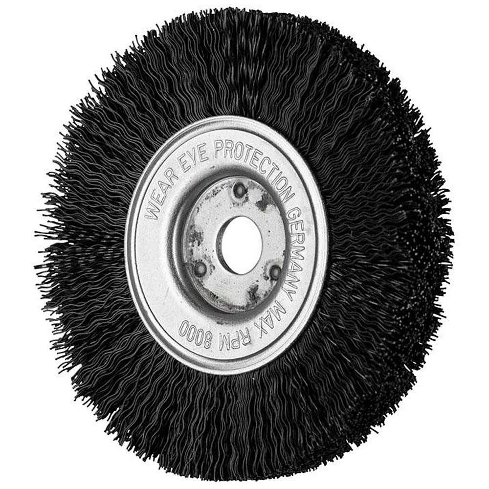 Rund borste - Häst - filament typ, med nylonstrumpa - för icke-järnmetaller, titan, Wood et al