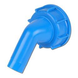 """Kunststoff Ablasstülle - Auslauf 19mm(3/4"""") - Anschlussge. DIN 61"""