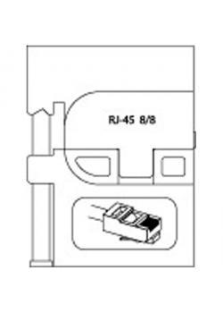 Modul-Einsatz - RJ 45 8P-8C - für Westernstecker