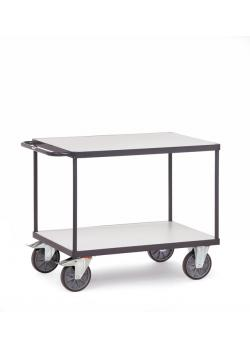 ESD Table trolley - with 2 floors - up to 600 kg - TPE ESD tires