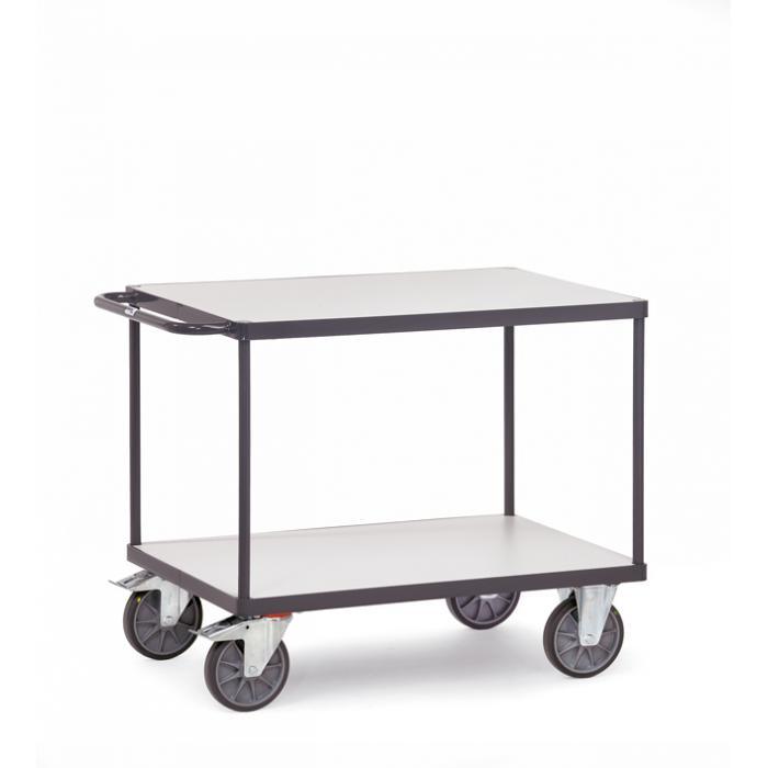 ESD Tabella trolley - con 2 piani - fino a 600 kg - pneumatici TPE ESD